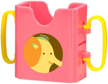 Picture of SIPPIN' SMART™ JUICE BOX HOLDER - ELEPHANT/ PINK
