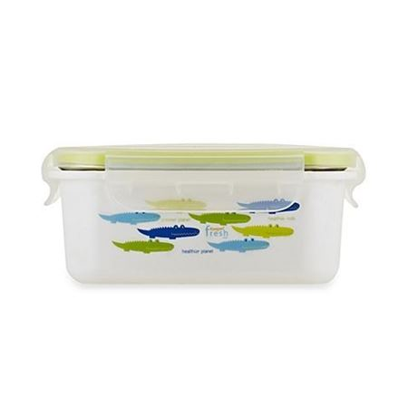 Picture of KEEPIN' SMART™ DOUBLE INSULATED STAINLESS LUNCHBOX - ALLIGATOR / GREEN / 15 OZ