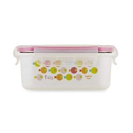 Picture of KEEPIN' SMART™ DOUBLE INSULATED STAINLESS LUNCHBOX - FISH / PINK / 15 OZ