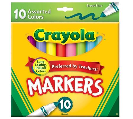 Picture of Broad Line Markers, Assorted Colors 10 ct.