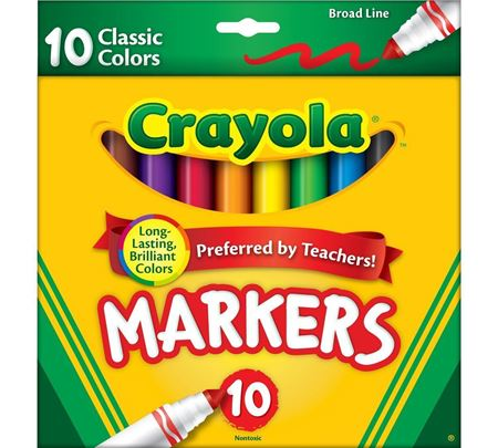 Picture of Broad Line Markers, Classic Colors 10 ct.