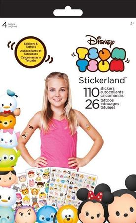 Picture of Disney Tsum Tsum Sticker+Tattoo Stickerland Pad - 4 pages