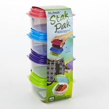 Picture of Multicolored 1 Cup Stak Pak Portion Control Containers (Set of 4)