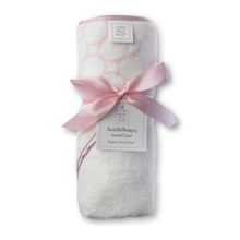Picture of Organic Hooded Towel Mod Circle on Ivory- Baby Pink