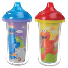 Picture of Sesame® Click Lock™ Insulated Cups - 9oz - 2 Pack (Purple/Yellow)