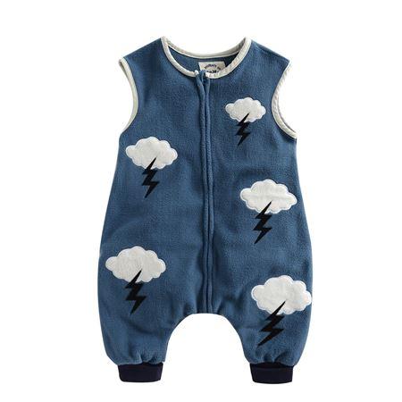 Picture of Vaenait Baby Micro Fleece Blanket Sleepsack - Navy Cloud