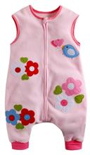Picture of Vaenait Baby Micro Fleece Blanket Sleepsack - Pink Flower