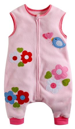 Picture of Vaenait Baby Micro Fleece Blanket Sleepsack - Pink Flower