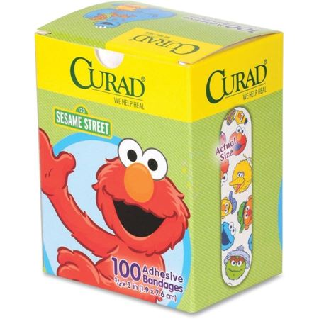 Picture of Curad Sesame Street Adhesive Bandages, 100 count