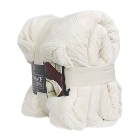 Picture of Life Comfort® Ultimate Sherpa Throw- White