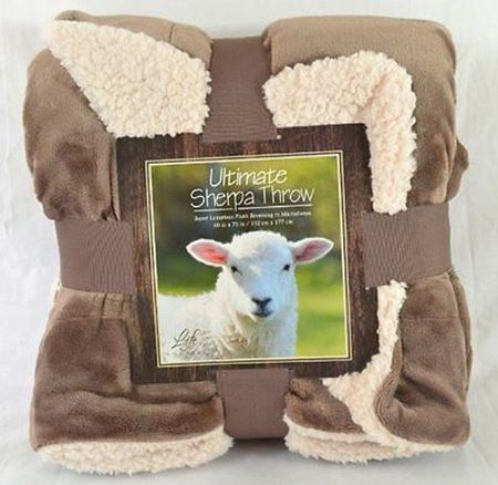 Picture of Life Comfort® Ultimate Sherpa Throw-  Tan