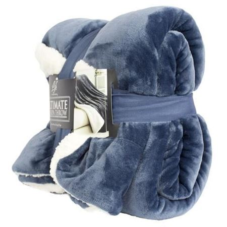 Picture of Life Comfort® Ultimate Sherpa Throw- Blue