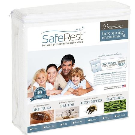 Picture of SafeRest Premium Hypoallergenic Waterproof Mattress Protector - Queen Size