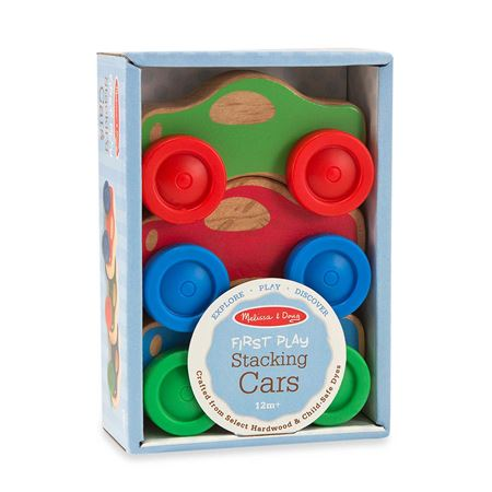 Picture of Melissa & Doug Stacking Cars Wooden Baby Toy