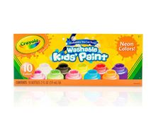 Picture of Crayola Washable Neon Paint, 10-Pack