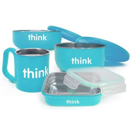 Picture of ThinkBaby The Complete BPA Free Feeding Set (Lt Blue)