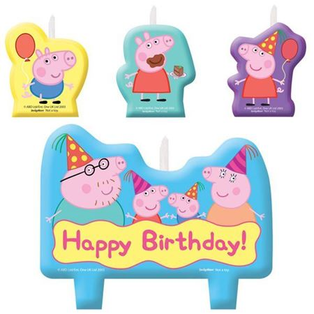 Picture of (By Air) Peppa Pig Birthday Candle Set, set of 4