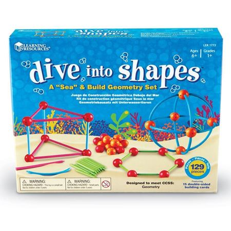 "Picture of Learning Resources Dive into Shapes! ""Sea"" and Build Geometry Set"