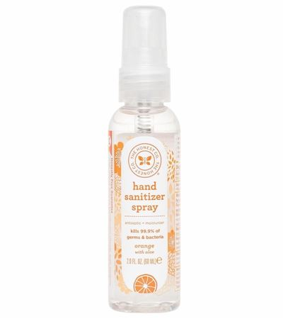 Picture of The Honest Company Hand Sanitizer Spray, Orange - 2 oz
