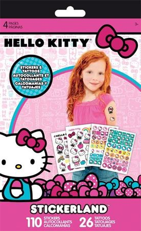 Picture of Hello Kitty Sticker+Tattoo Stickerland Pad - 4 pages