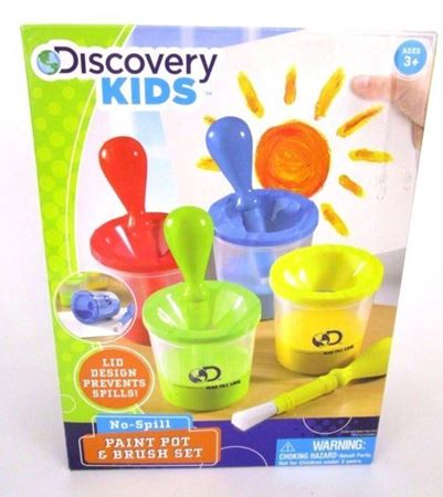 Picture of Discovery Kids No Spill Paint Pot & Brush Set