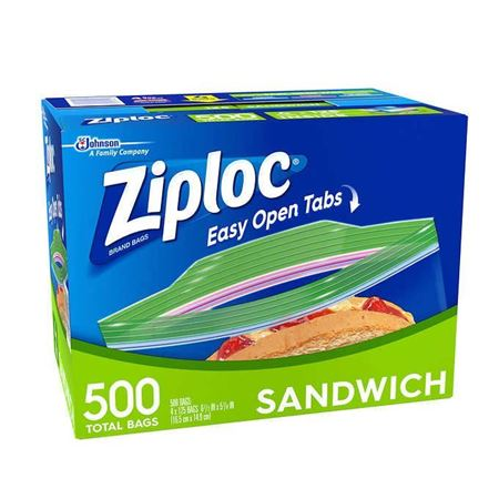 Picture of Ziploc Sandwich Bags 500-count