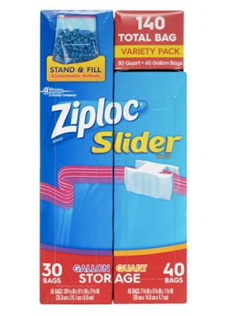 Picture of Ziploc Slider bags, 140 ct