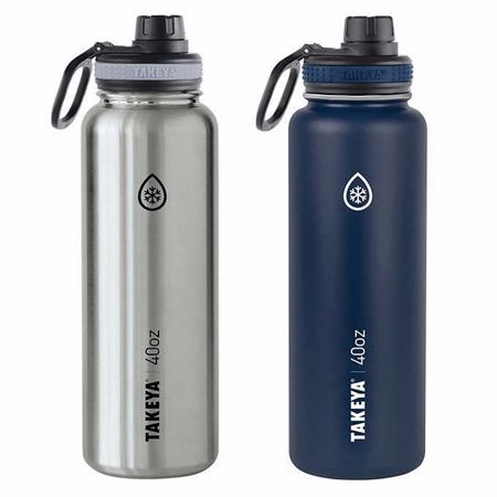Picture of Takeya 40oz Insulated Stainless Steel Water Bottle 2-pack