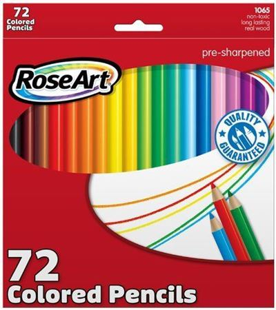 Picture of RoseArt Colored Pencils 72-Count Assorted Colors