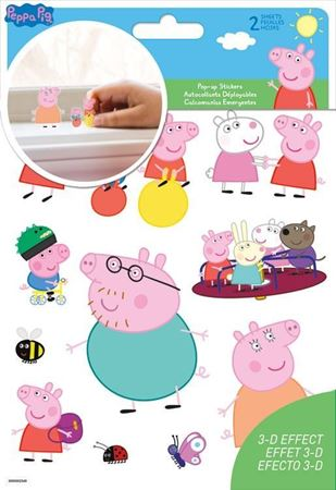Picture of Peppa Pig Pop Up Stickers - 2 Sheet
